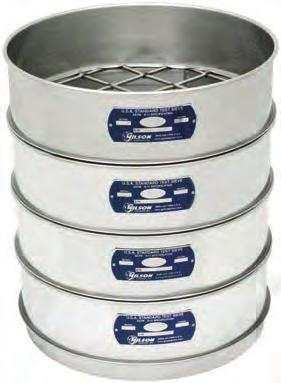 V8SF #6 No Full Height All Stainless Steel ASTM E11 Test Sieve 203mm Opening Size 3.35mm Gilson 8-Inch 6