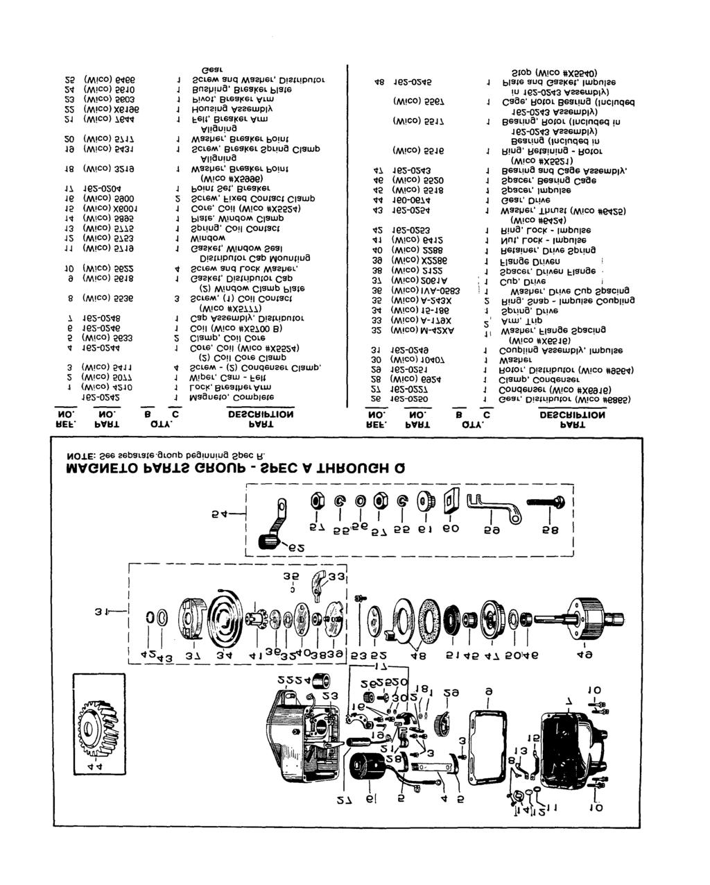 Parts Manual Mm Engine Jb Spec A T Jc V 9 74 Printed M Wico Magneto Wiring Schematic 7 3 L 35 33 5