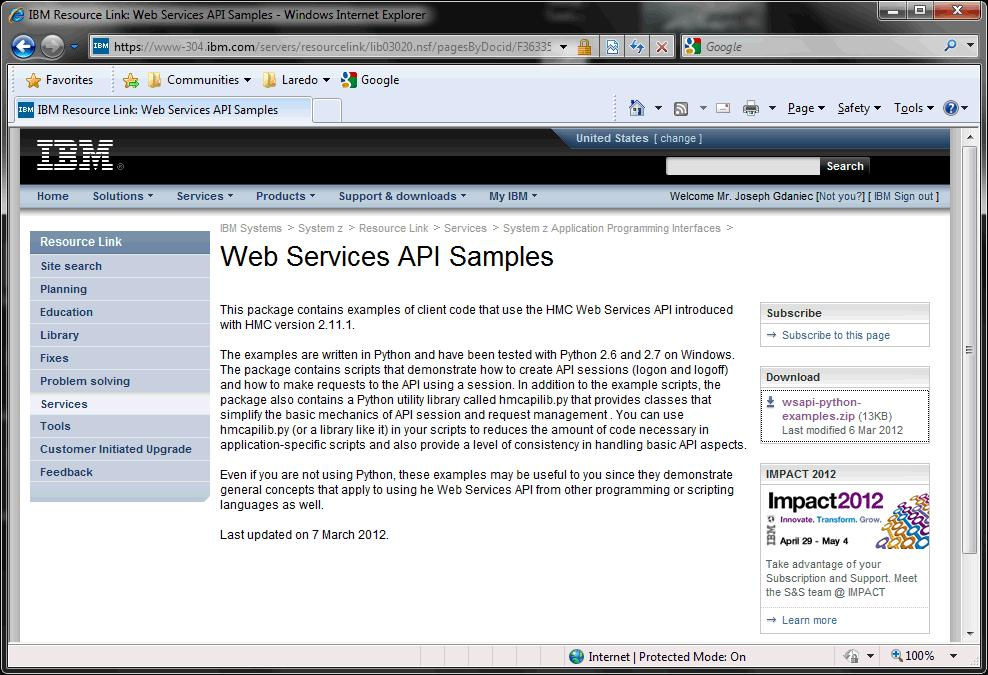 HMC Unified Resource Manager Web Services API and User