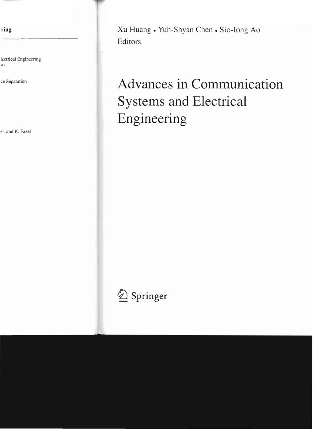 Lecture Notes in Electrical Engineering - PDF