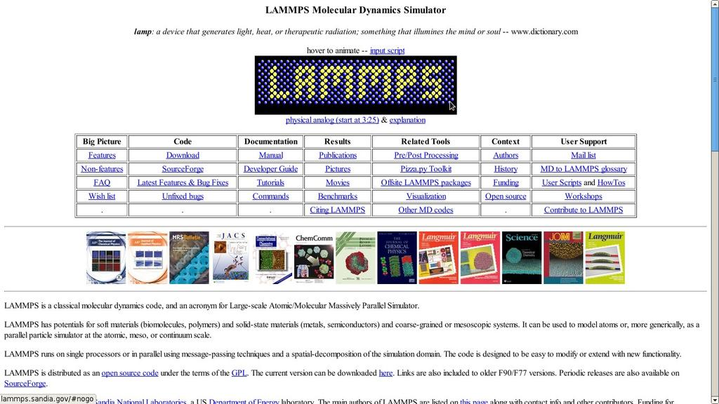 Large Scale Parallel Materials Simulations with LAMMPS - PDF