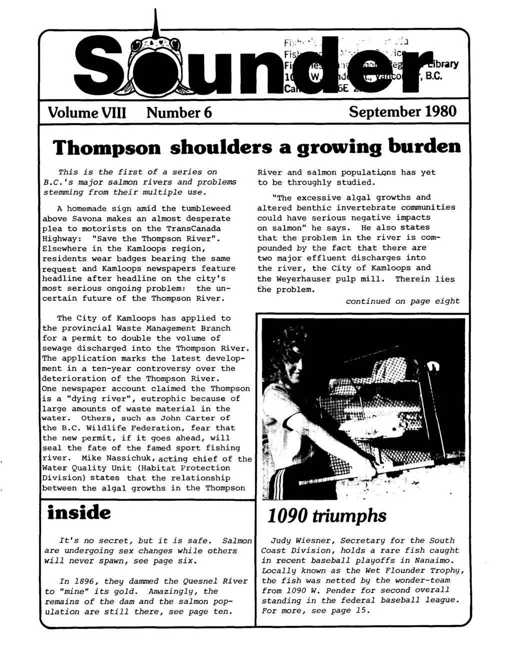 nder Volume VI11 Number 1 January-February 1980 New Northern