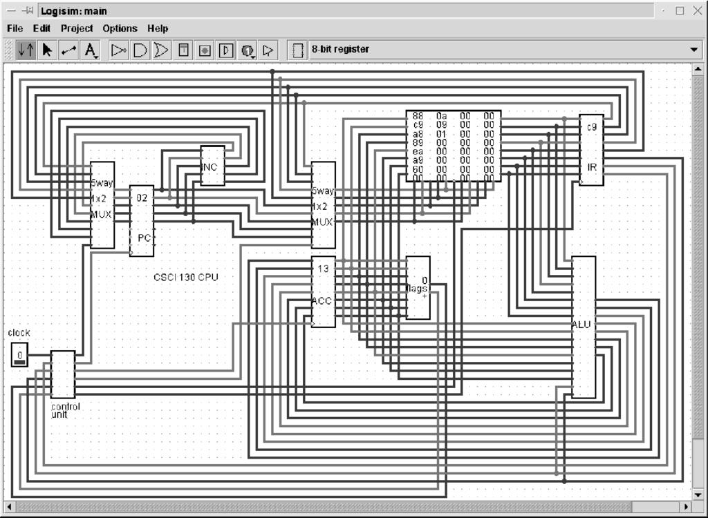 Logisim: A Graphical System for Logic Circuit Design and