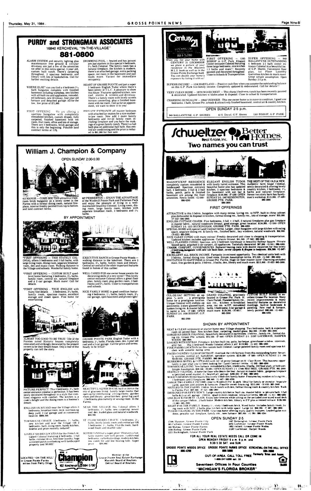 Ws Vol 45 No 22 Grosse Pointe Michigan Thursday May 31 Cents 40 Garbage Disposal Dishwasher Wiring On Garage For Welder 1984 Ponte News Page Nmb Purdy