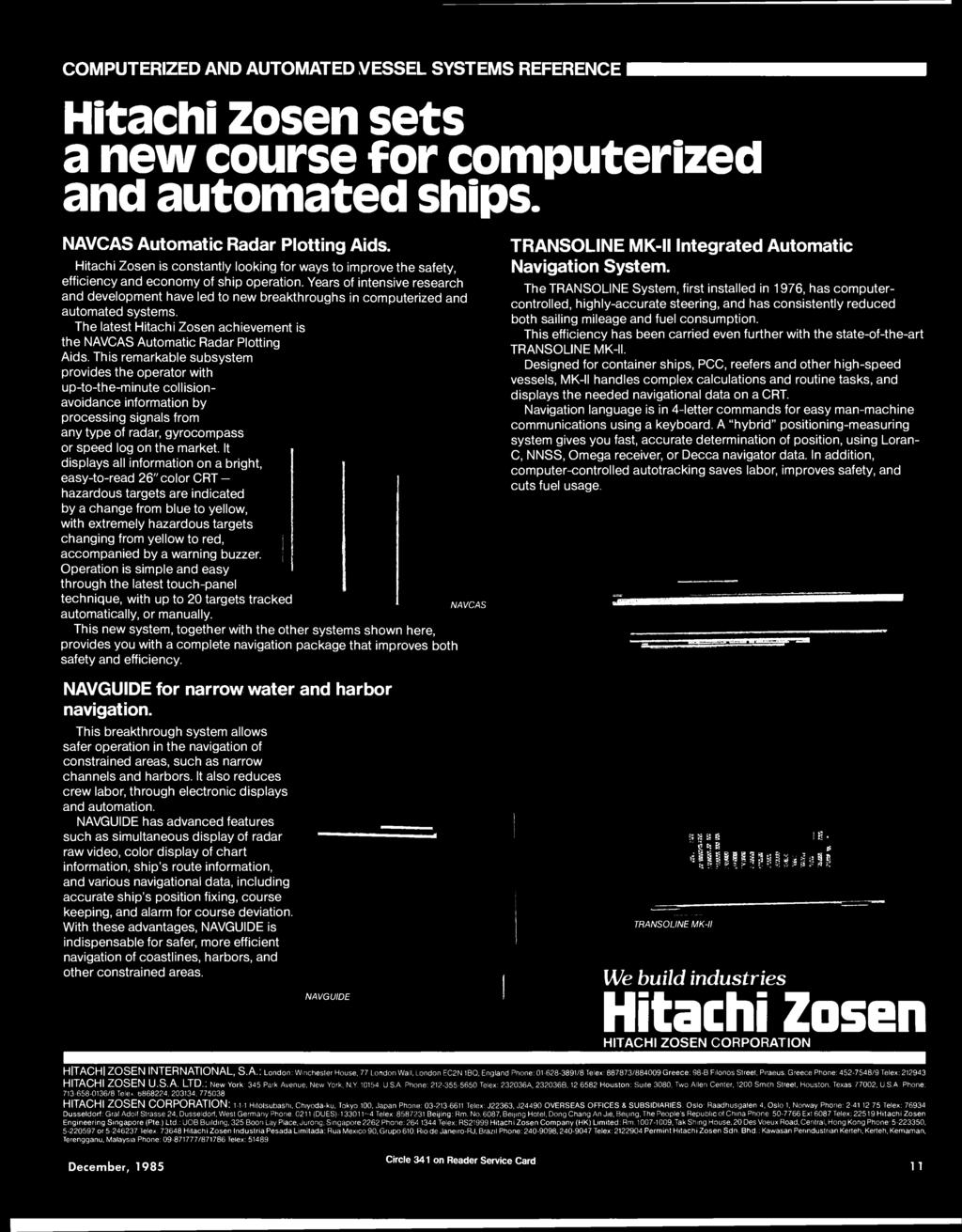 Maritime Reporter Engineering News Fflllbble Ib M1 M December 1985 Hitachi Alternator Wiring Diagram Share The Knownledge Computerized And Automated Vessel Systems Reference Zosen Sets A New Course For