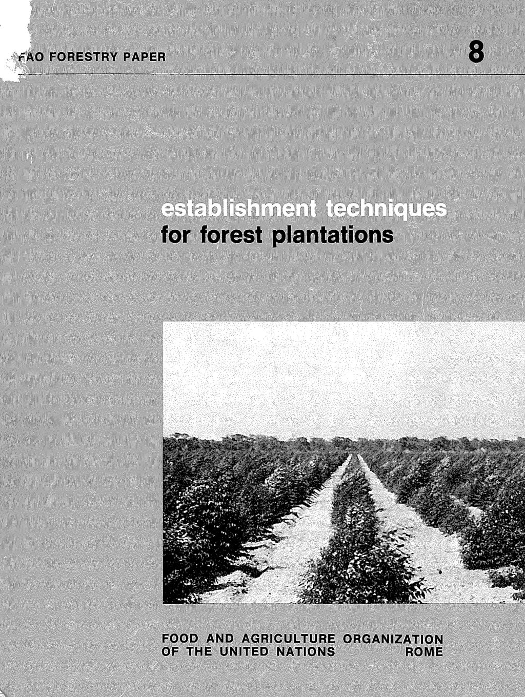 Comment Drainer Un Sol Pour Plantation establishment techniques for forest plantations - pdf free