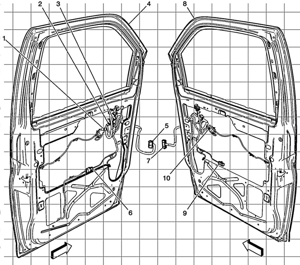 Page Electrical Manual 2012 G H Full Size Van Table Of Contents Low Speed Windshield And Washer Wiring Diagram For 1959 Chevrolet Driver Front Passenger Doors Harness Routing C 111 1 J1 U3
