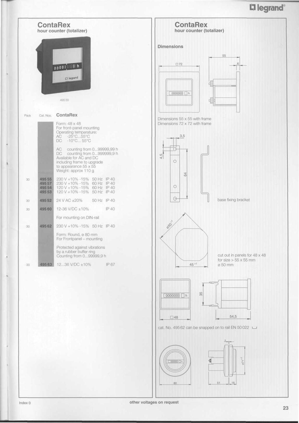 A Complete Range For Any Application Pdf 0 60 Counter Circuit Diagram Legrand Contarex Hour Totalizer 55 72