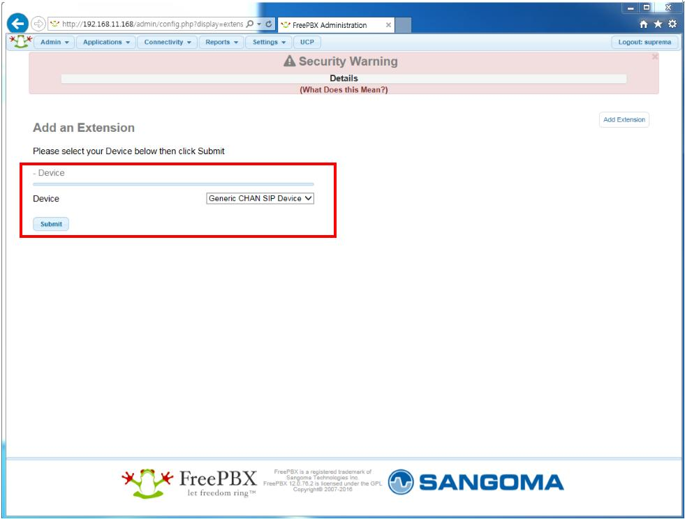 Linphone Freepbx