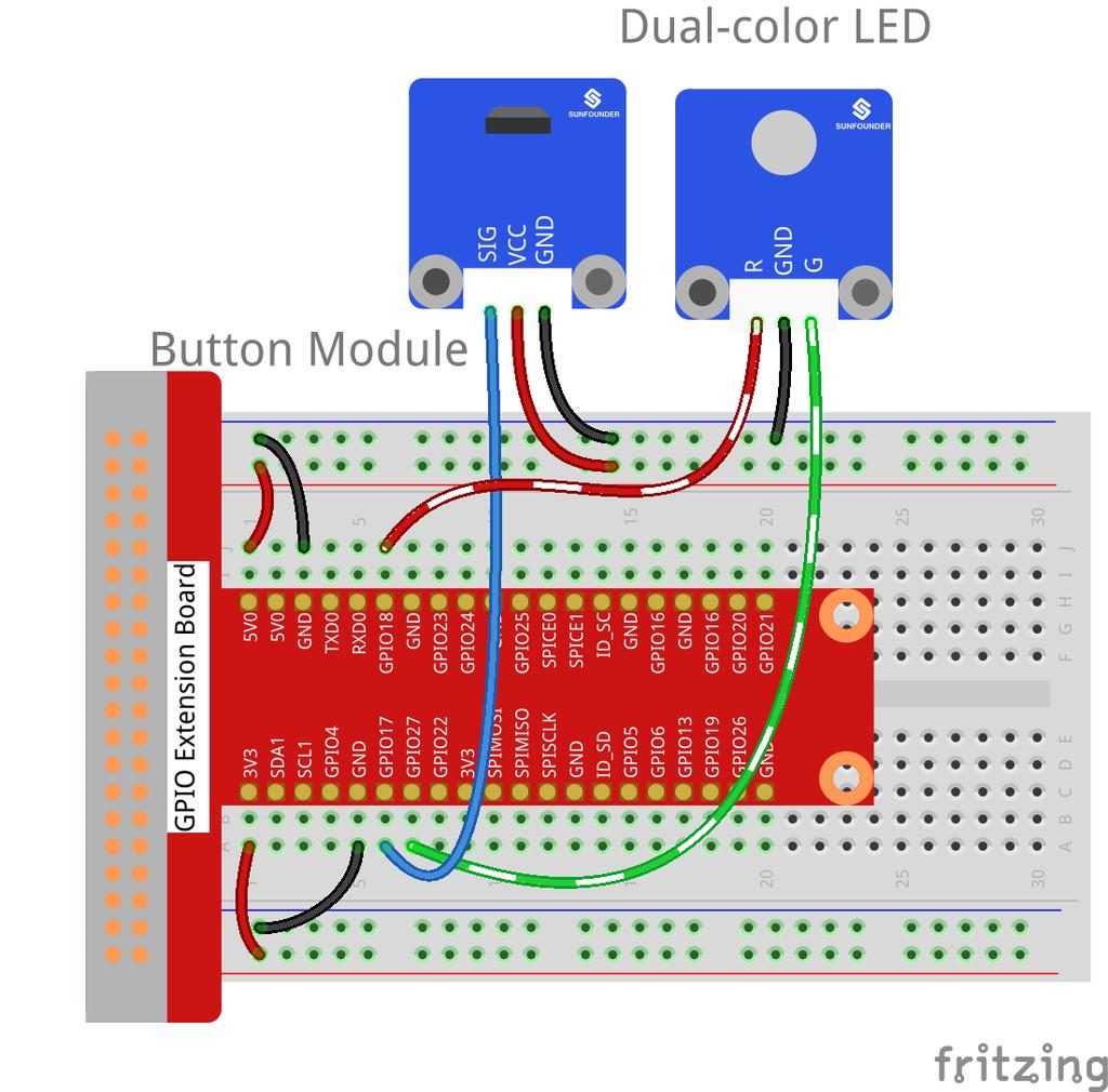 Lesson 25 Ultrasonic Ranging Module 26 Ds18b20 Temperature Alarm Circuitphotointerrupter Controlcircuit Circuit Step 1 Build The Switch Hall