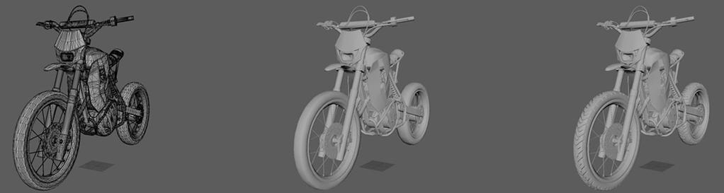 CONSTRUCTING A 3D MOTORCYCLE MODEL FOR GAME DEVELOPMENT USAGE IN