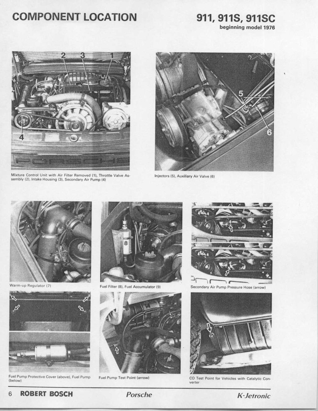 Workshop Manual Porsche K Jetronic Robert Bosch Pdf 1998 Volvo 5 0 Gl Fuel Filter Location Component 911911s 911sc Beginning Model 1976 Mixture Control Unit With Air Removed