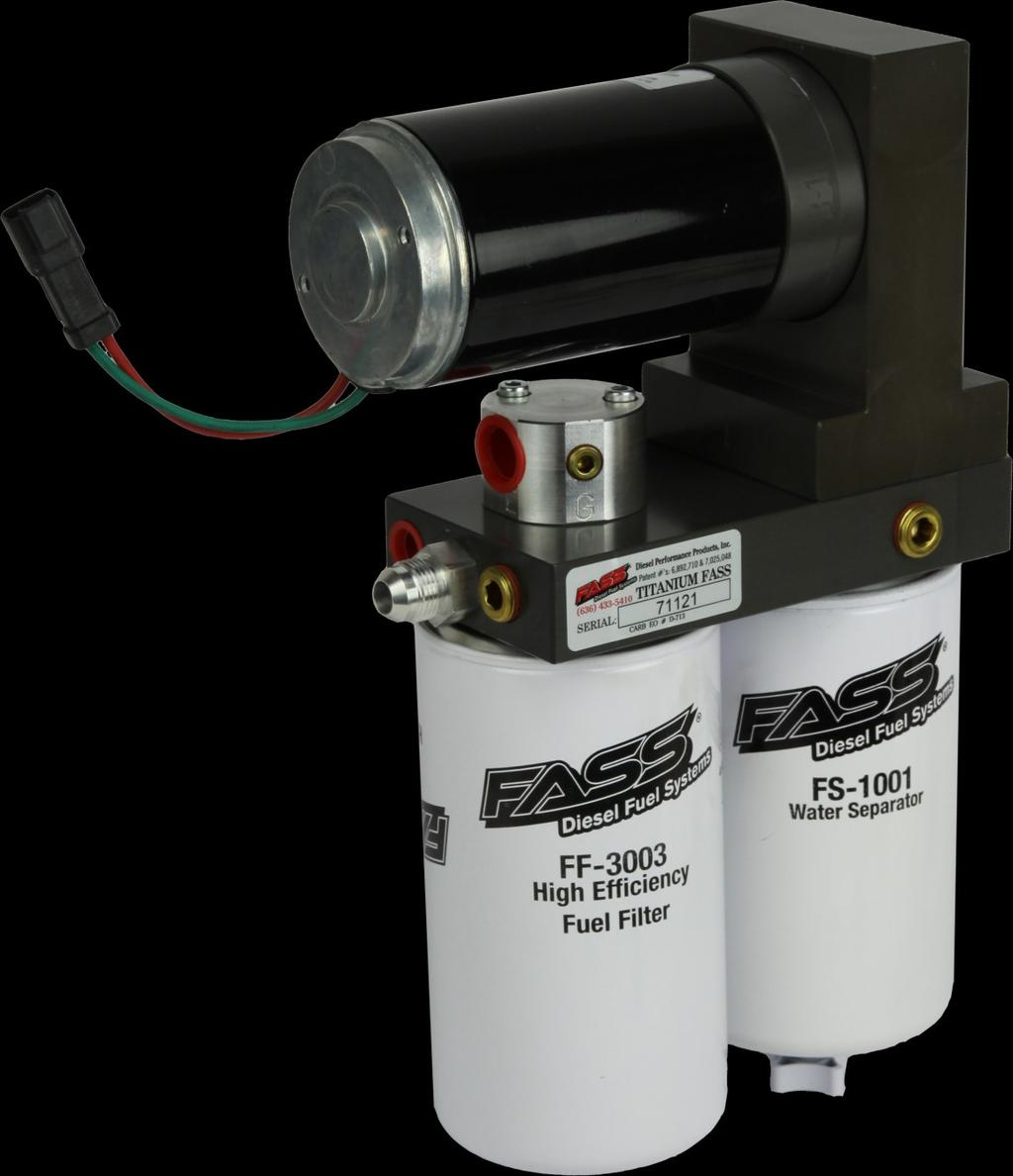 Installation Manual Application T F14 220g 55psi Powerstroke 73l 3976 Fuel Filter Install Ff 3003 On Side Of Pump With Draw Tube In The Middle
