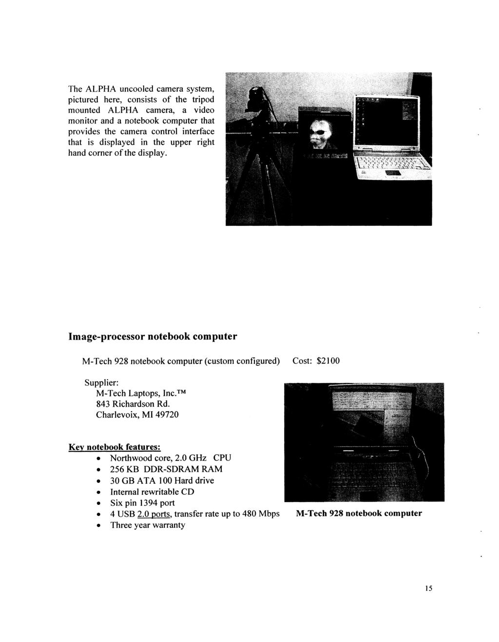 High Performance Cameras For Hyperspectral And Polarimetric Imaging The Figure Below Shows Pir325 Electricalspecifications Layout Alpha Uncooled Camera System Pictured Here Consists Of Tripod Mounted