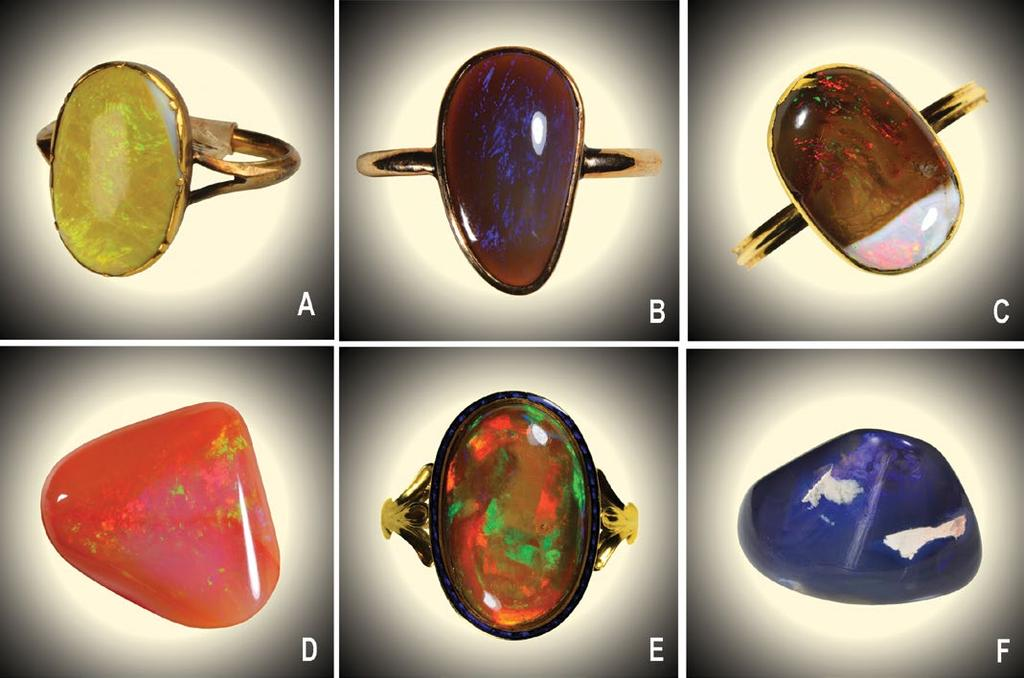 no. 1231-1869) C. Opal featuring a distinct inconsistency in the body colour (from the legacy of C. H. Townshend). Photo The Victoria and Albert Museum, London (inv. no. 1232-1869). D.