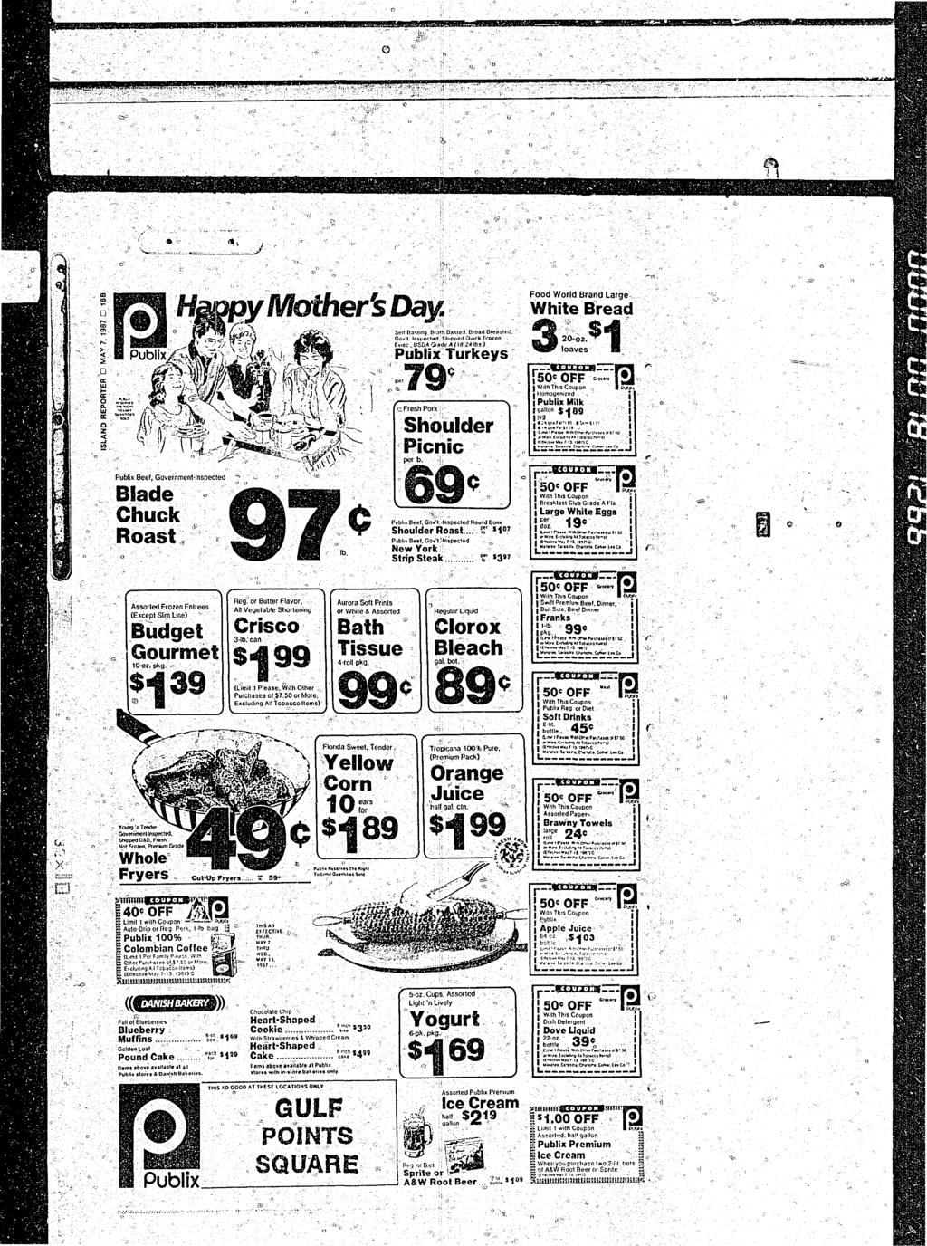 Plenty Of Tampon Action In Reel Nautical Newsfv May 71987 Wiring Money Publix C Beef Government Inspected Blade Chuck Roast Assorted Frozen Entrees Except