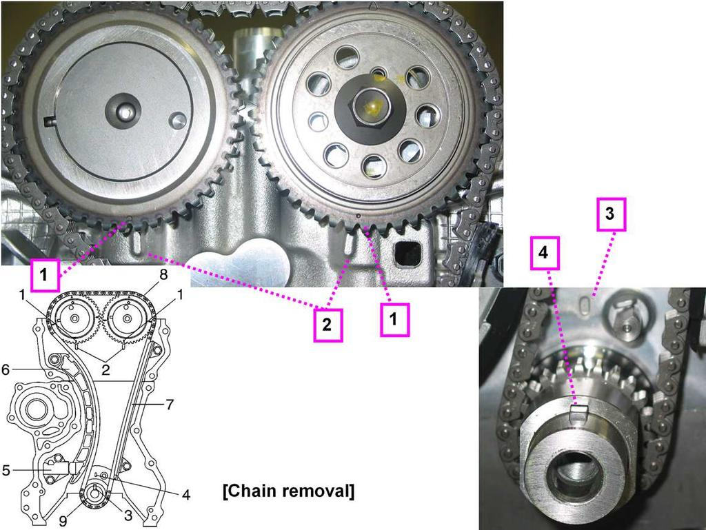 Engine Service K10b Pdf Suzuki M15a Timing Marks Chain Continued 1 Camshaft Sprocket Dot Mark 2
