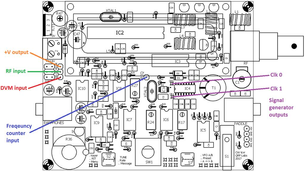 QCX 5W CW Transceiver kit assembly instructions - PDF