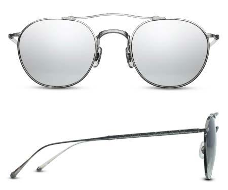 ab6af823bc M3046 Classic soft rectangular sunglass crafted of beta titanium. Features  an arched brow bar and