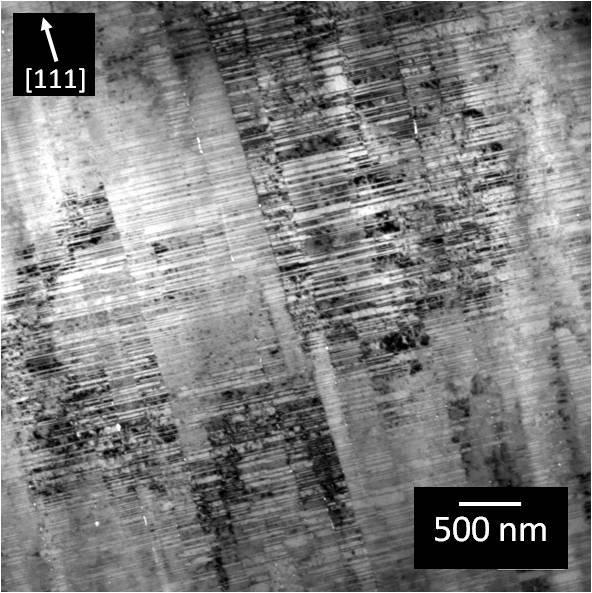 Chapter 6 - In situ TEM mechanical testing of nanotwinned Cu Taking into account the crack formation and propagation until it reaches the first CTB, the stress intensity reached K Q = 6.7 ± 0.