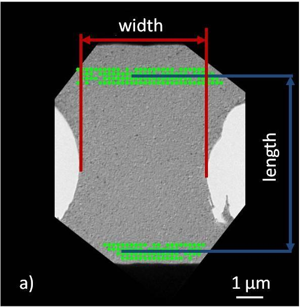 Chapter 4 - In situ TEM mechanical testing of nanocrystalline Cu This matlab code uses fiducial markers that stick to surface structures with a high contrast difference and follow the deformation in