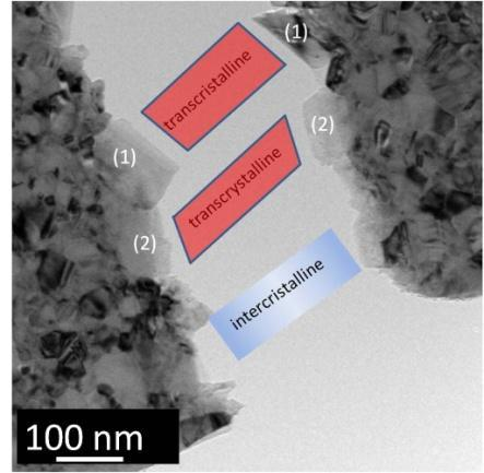 Chapter 4 - In situ TEM mechanical testing of nanocrystalline Cu a ~ 250 22 nm dw (10-11 Nm) 8.5 de el (10-11 Nm) 6.2 de (10-11 Nm) 2.
