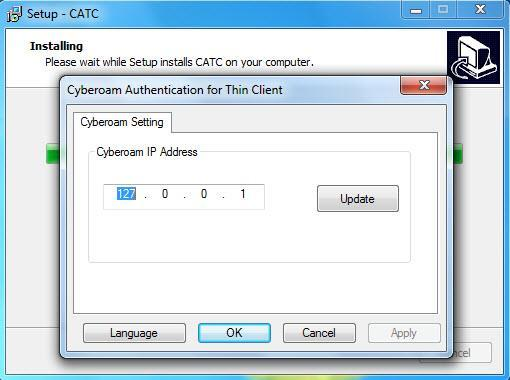 Cyberoam Authentication for Thin Client (CATC) Installation