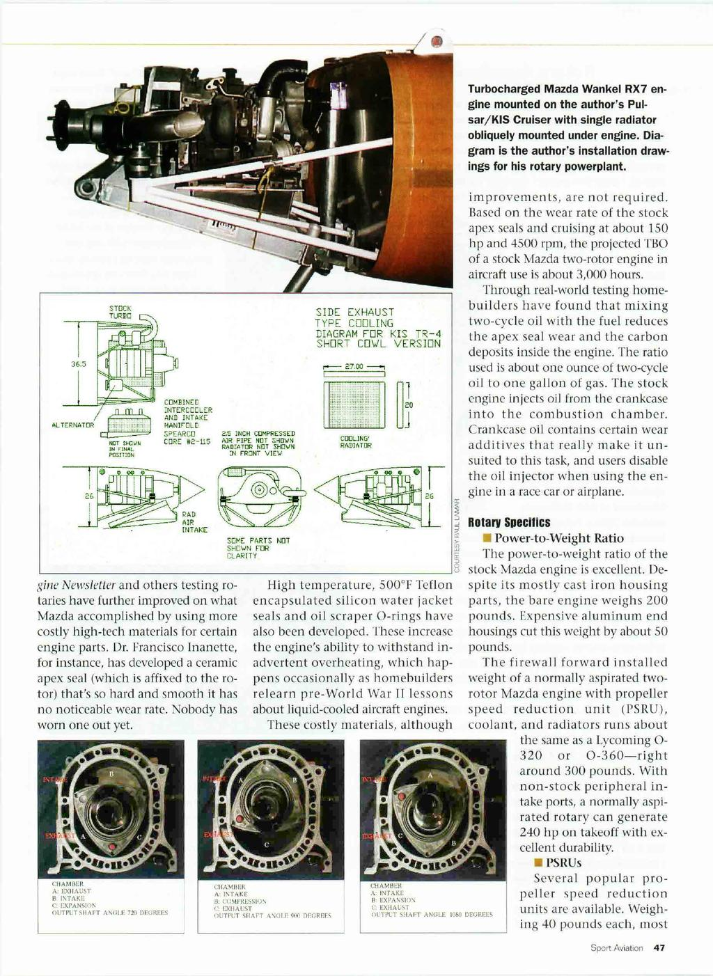 L Exploring The Mazda Wankel Rotary As An Alternative Aircraft 1993 Rx 7 Engine Diagram Turbocharged Rx7 Mounted On Authors Pulsar