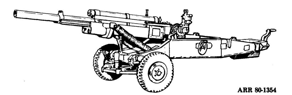 b. M102 105-MM Towed Light Howitzer (Fig 3-2). This weapon came into service in the mid-1960 s and was used extensively during the Vietnam conflict. The M102 has generally replaced the MlOlA1.