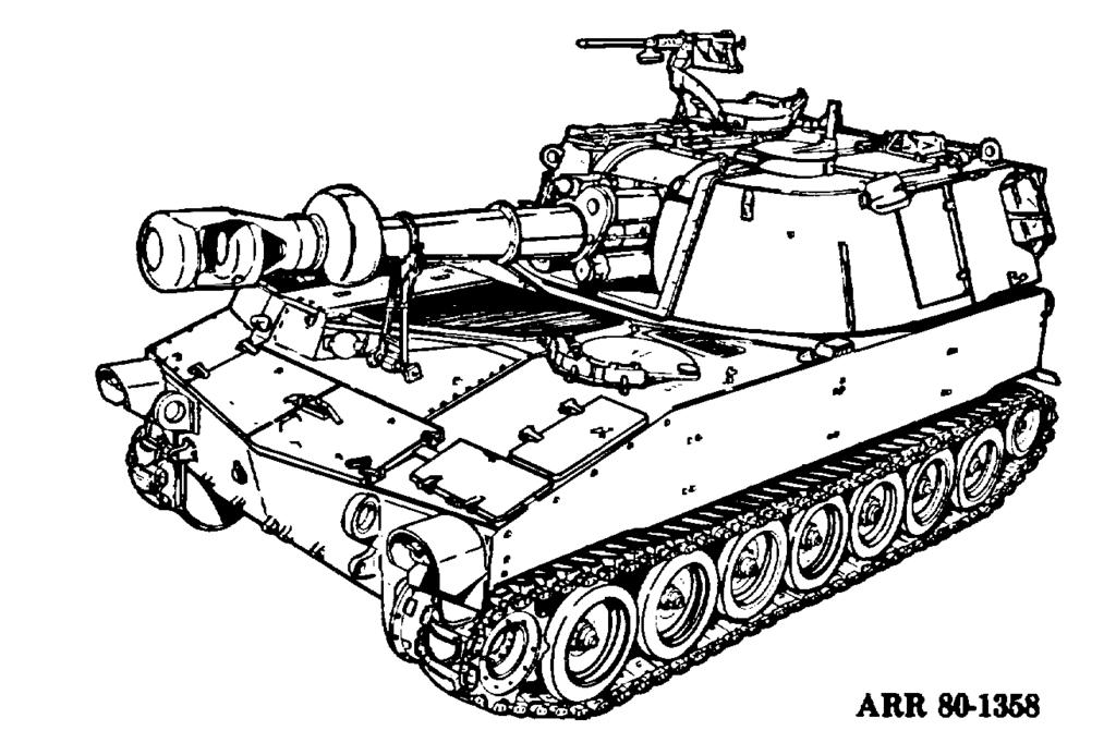 f. M109 155-MM Self-Propelled Medium Howitzer (Fig 3-6). This weapon, which came into service in the early 1960 s, was used extensively in the Vietnam conflict.