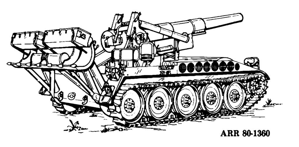 h. M110 8Inch Self-Propelled Heavy Howitzer (Fig 3-8). This weapon came into service in the mid- 1960 s and was used extensively in the Vietnam conflict.