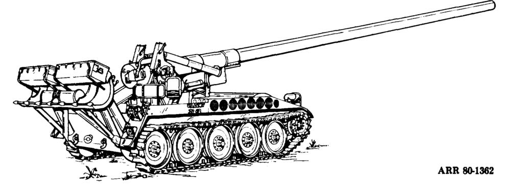 j. M107 175-MM Self-Propelled Gun (Fig 3-10). This weapon came into service in the mid-1960 s and was used extensively in the Vietnam conflict.