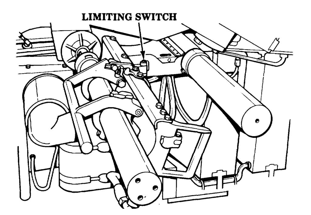 (5) Limiting switch (fig 5-14). The limiting switch is a safety switch that is closed when the rammer is in the ram position. (6) Rammer control box (fig 5-15).