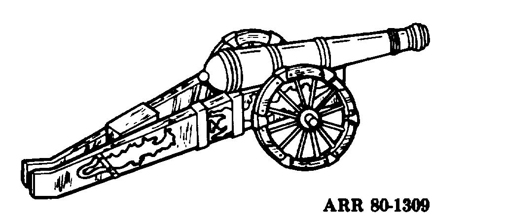 c. During the Hundred Years War (1399-1453), cannons came into general use. The early iron or castbronze pieces were very small and fired lead, iron, or stone balls.