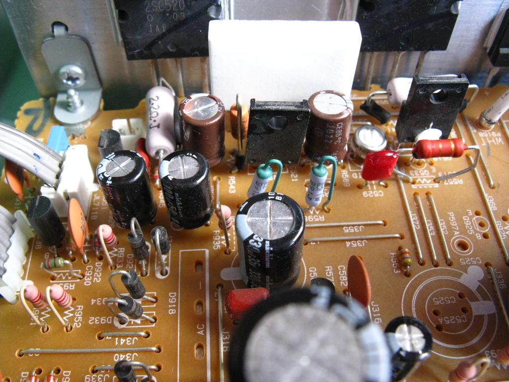 Audio Restoration Upgrade Project Repair Onkyo Tx 8555 Stereo Irs2092 Class D Amplifier Circuit Lm1036 Tone Controlled Diode The Original Rectifier Diodes On 12v And Circuits