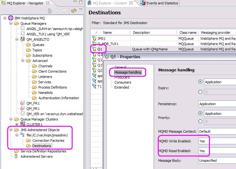 How to read and write fields from the MQMD via WebSphere MQ Classes