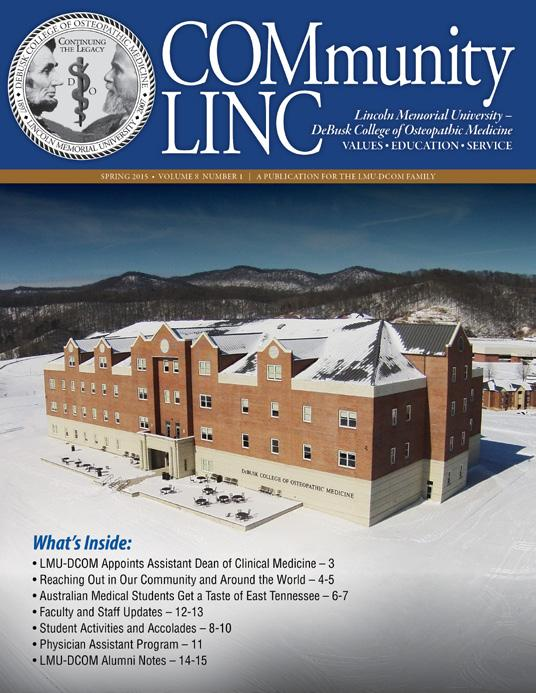 Lincoln memorial university tennessee pa program
