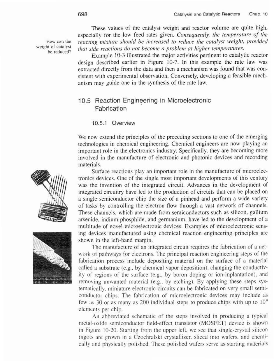 105 Reaction Engineering In Microelectronic Fabrication Pdf Ev Mic Wiring Diagram D767 698 Catalysis And Catalytic Reactors Chap 10 How Can The Ueieht Of Caaly