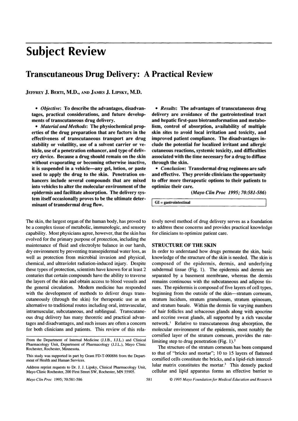 The Release and Transdermal Penetration of Baclofen Formulated in a