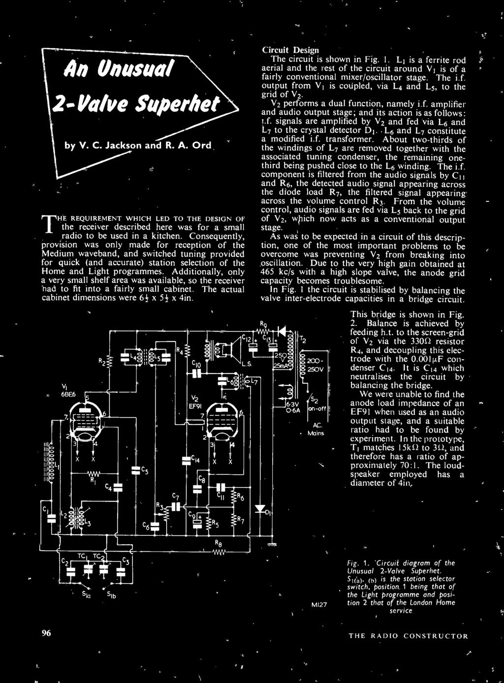 September Design Details Electronics Television Audio The Jr1 Free Circuit Diagrams 4u Basic Sound Generator Diagram If Output From V1 Is Coupled Via L4 And L5 To Grid