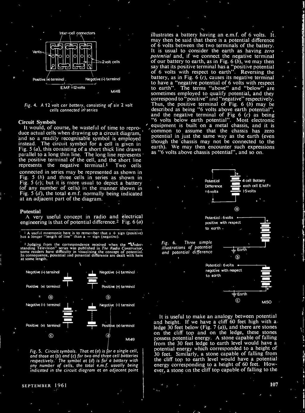 September Design Details Electronics Television Audio The Jr1 Figs 1and 2 Shows Transmitter And Receiver Circuit Respectivelythe 5 B Three Cells In Series As Shown Fig