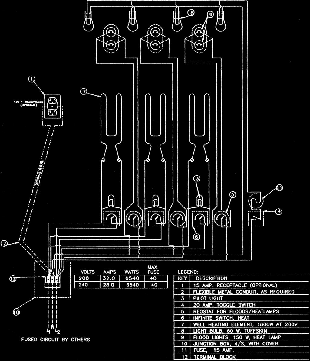 Installation Service Manual Pdf 208v Receptacle Wiring Diagram Diagrams