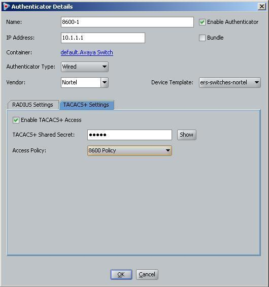 Management Access Security for ERS 8800/8600 Technical