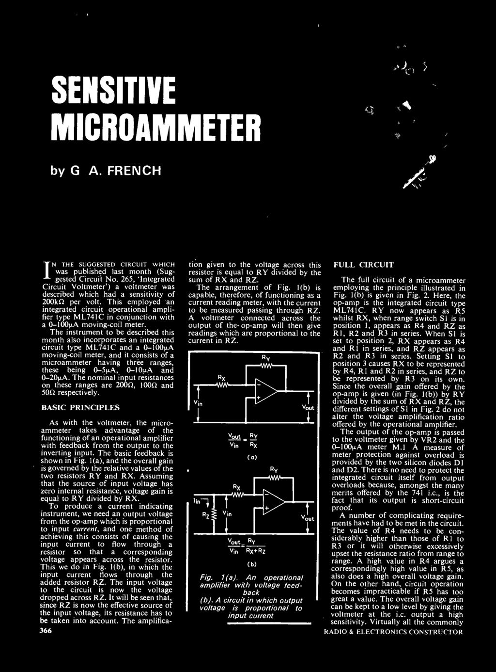 Forma Co Str Lct Electronics 20p Telephone Amplifier Op Amp Buffer Http Wwwopencircuitscom Basiccircuitsandcircuit The Instrument To Be Described This Month Also Incorporates An Integrated Circuit Type Ml741c And A