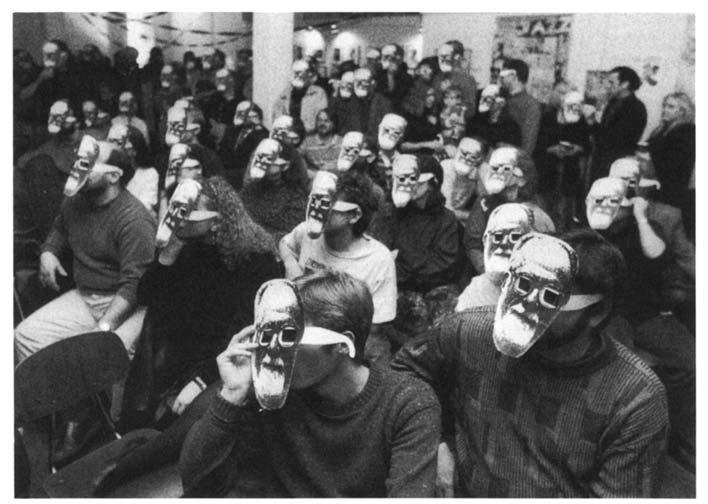 Hal Russell I 113 Audience in 3-D masks, Hal Russell memorial, Southend 9d40a333cc