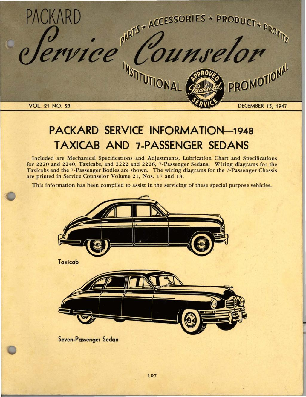 Packard Motor Wiring Detailed Schematics Diagram Rts Service Information 1948 Taxicab And 7 Passenger Sedans Pdf Convertible