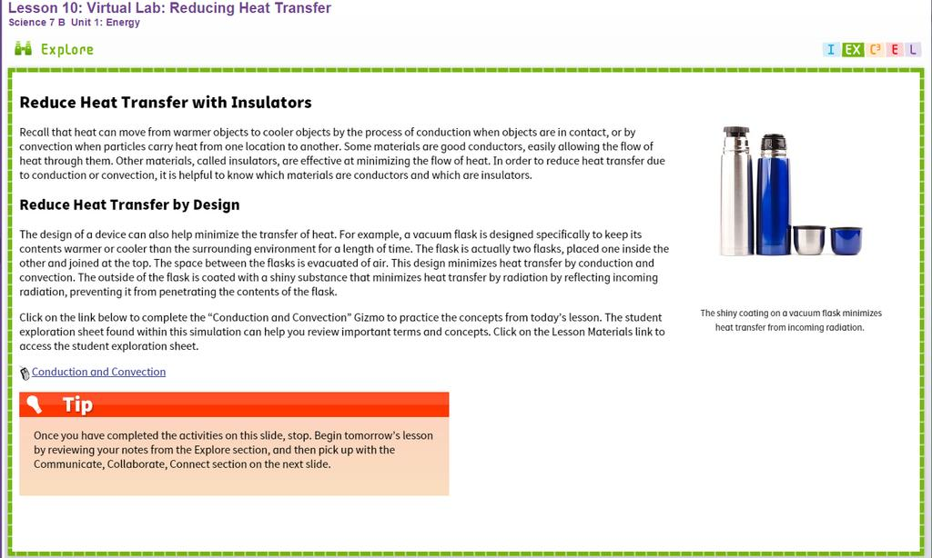gizmo student exploration heat transfer by conduction answer key