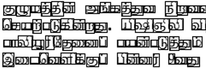Developing a commercial grade Tamil OCR for recognizing font and