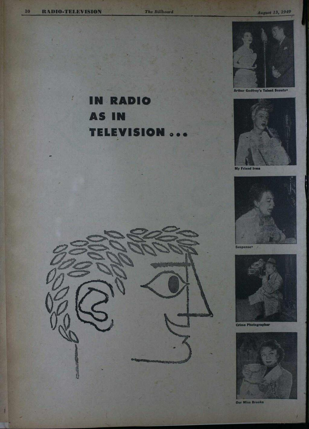 dcc1956b6d4 10 RADIO-TELEVISION The Billboard August 13