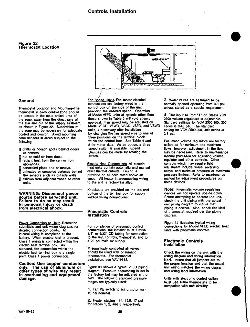 Hvac Bldg On In Wo Desc Mrp Esj Pdf General Thermostat Wiring Controls Installation Figure 32 Location And Mountinq The Each